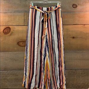 Xhilaration Striped Flowy Pants | Tie Front